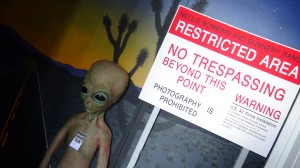 """""""The first ever exhibit on Area 51, the real truth, the real programs and the secrecy that surrounds the base at Groom Lake."""" Photo: Monique Gaudin"""