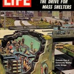 Creating spaces of refuge in the event of a nuclear attack became a national focus in the 1960s.  Image: IMAGE http://we-make-money-not-art.com/archives/2012/11/fallout-shelter-designing-for.php#.UhplPRZ-KR9