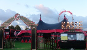 The 540 seat circus tent is sold out nearly every night.  Photo: Monique