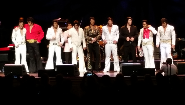 "Ten finalist of the King Las Vegas"" Elvis Festival and competition at Sam's Town. Image:Monique Gaudin"